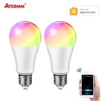 Apple Homekit     ampoule intelligente WiFi  15W  E27  LED  RGBW  16 millions de couleurs  IOS  Siri  lampe WiFi