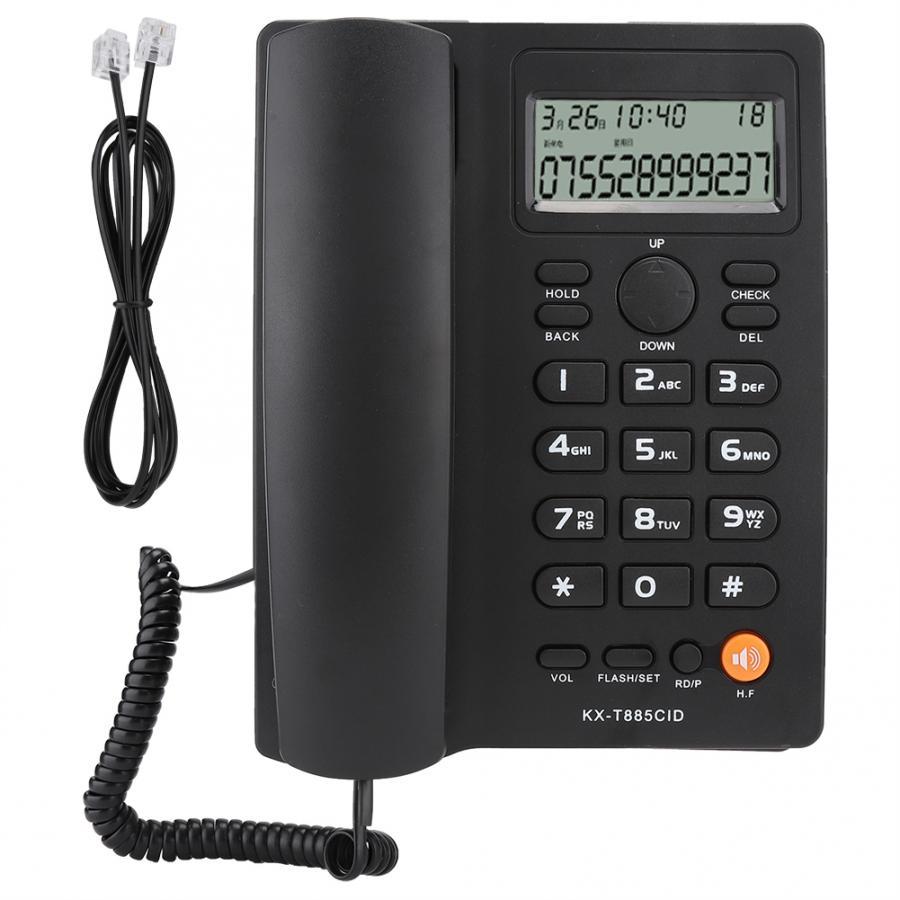 رقم المتصل الهاتف حر اليدين الاتصال الهاتف الثابت واضح الصوت الحد من الضوضاء الهاتف للمنزل مكتب فندق الإنجليزية