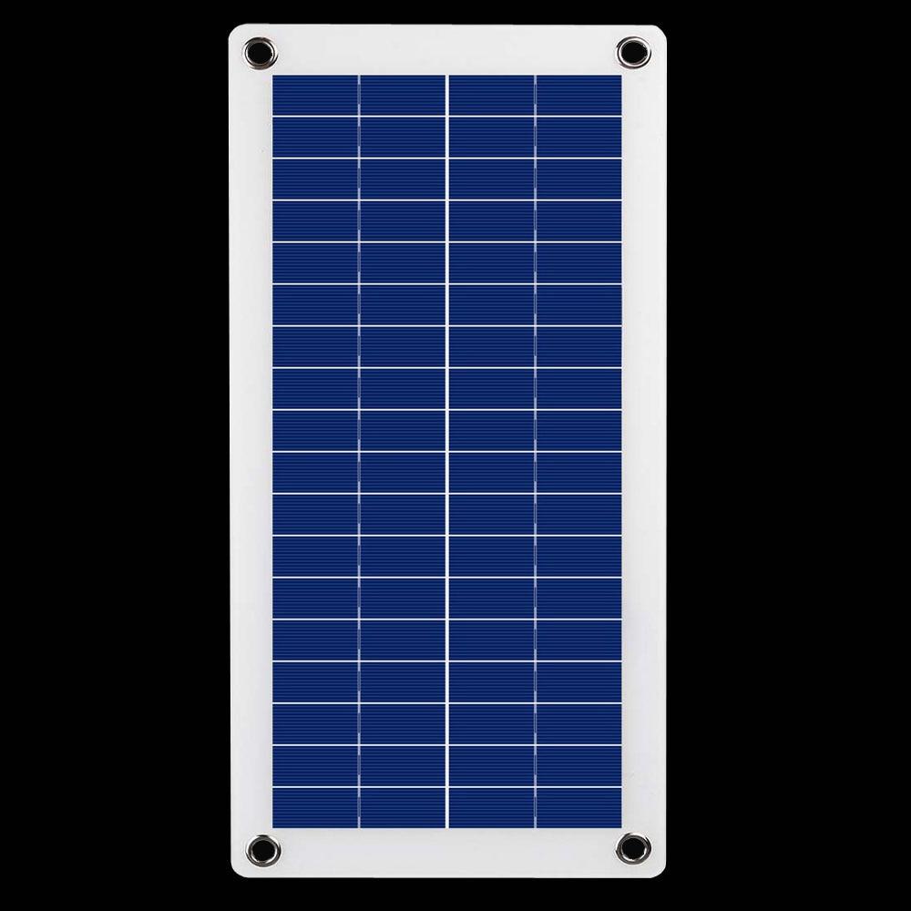 Portable Semi-flexible 12V Solar Panel Power Bank Board External Battery Charging Solar Cell Board Crocodile Clips Car charger