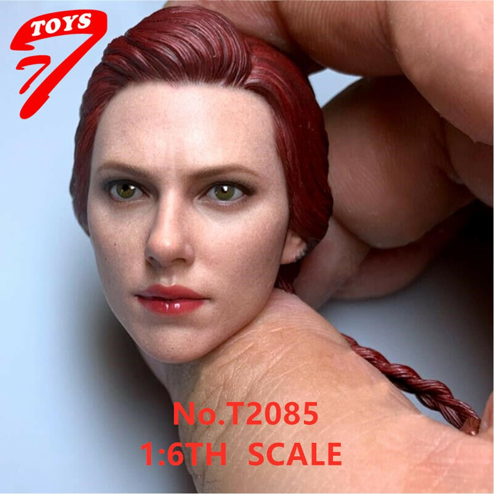 customized so toys so t01 so t03 1 6 scarlett johansson black widow battle suit clothes set for 12 inches ph doll body figure In Stock 1/6 Black Widow Scarlett Head Sculpt For 12 Female Figure Body Toys For Collection