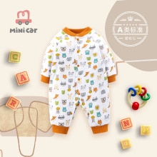 Baby's bodysuit baby's autumn and winter clothes with cotton jacket