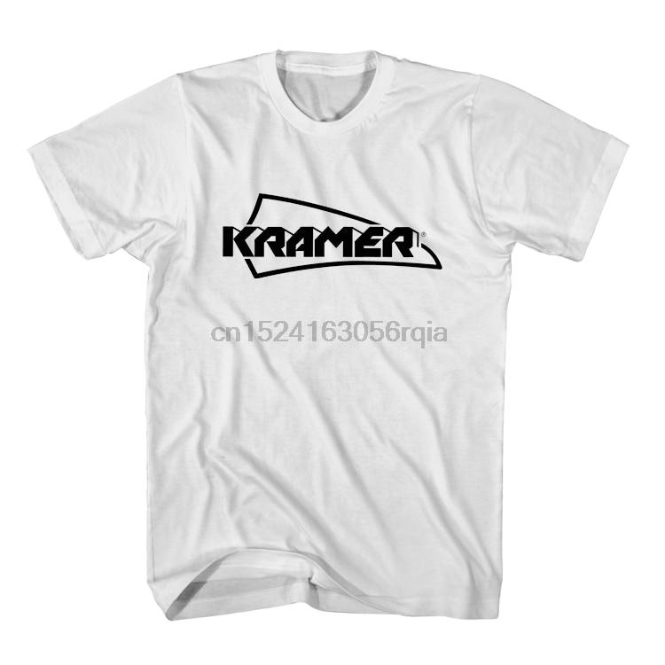 T-Shirt classique de logo de vêtements pour hommes de logo de détresse Original de guitares de KRAMER