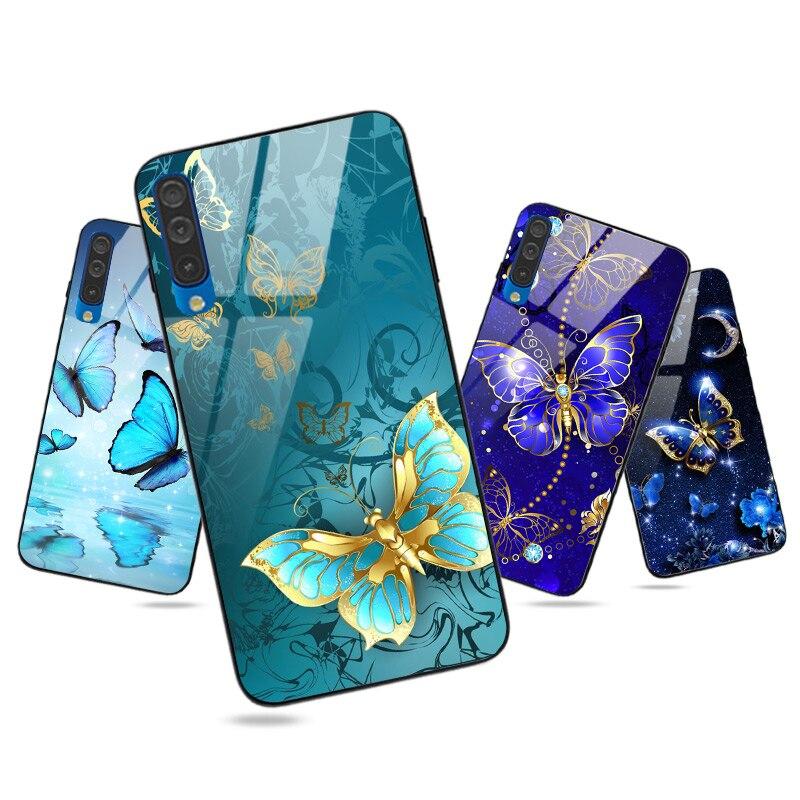 Schmetterling Fall Für Samsung Galaxy J7 2016 J3 J5 J7 2017 EU J6 2018 J4 Plus Fall Abdeckung Glossy Für samsung J3 J1 2016 Harte PC TPU