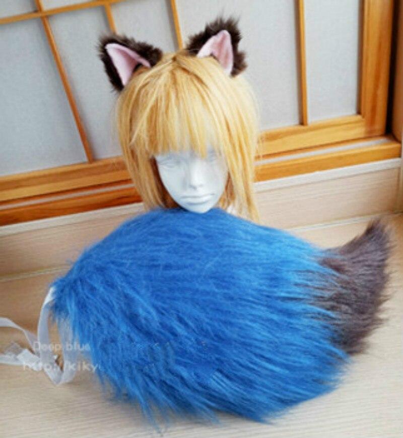 BNA, nuevo ANIMAL, Kagemori Michiru, accesorios de disfraces de rol, utilería, guantes con cola en la oreja, fiesta de Carnaval de Halloween (sin peluca)