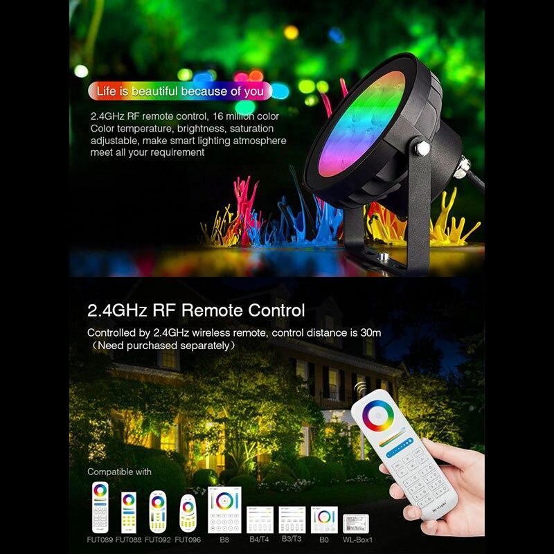 Miboxer New 18W Garden Light FUTC09 RGB+CCT led Lawn Light Waterproof IP66 Outdoor Lighting AC100~240V 50/60Hz enlarge