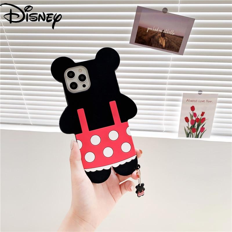 Disney Cartoon Minnie couple phone case with pendant for iphone7/7p/8pkus/xsmax/xr/se/11pro/11promax/12/12mini/12promax/6s/6sp