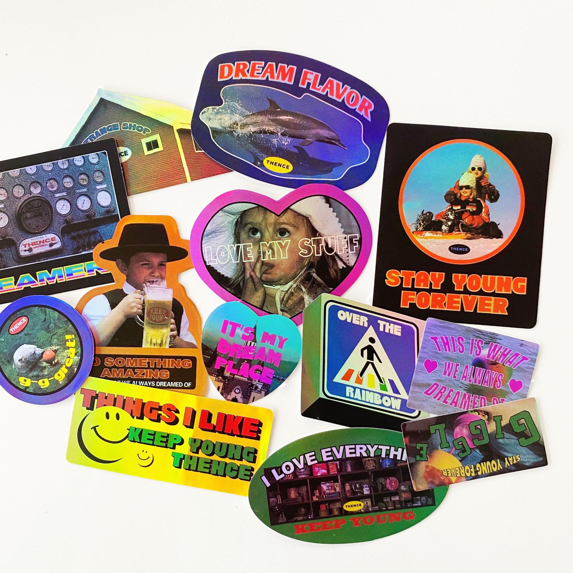 adesivo-decorativo-scrapbooking-laser-a-colori-vintage-rosa-diario-coreano-fai-da-te-album-telefono-ipad-stick-etichetta-cancelleria-kawaii