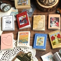 100 sheets vintage old fairy tales flower memo pad diary stationary flakes scrapbook decorative material pocket little book