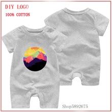 Creative Design 100% Pure Cotton Baby Romper Summer Short Sleeved The Mountains Cotton Newborn cloth