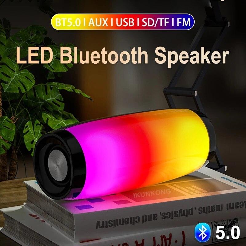 Parlante con Bluetooth para cine en casa, Altavoces con Radio LED, FM,...