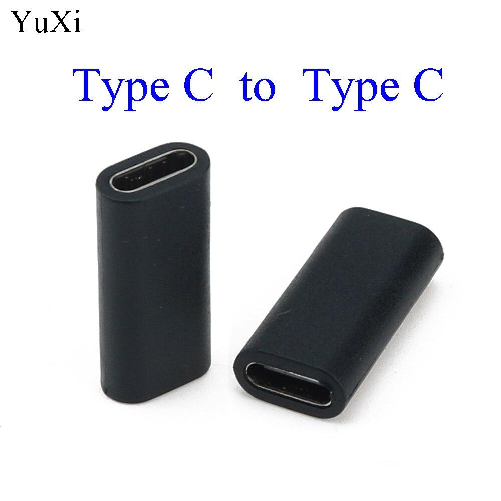 Adaptador USB tipo C convertidor hembra a hembra adaptador de sincronización de...