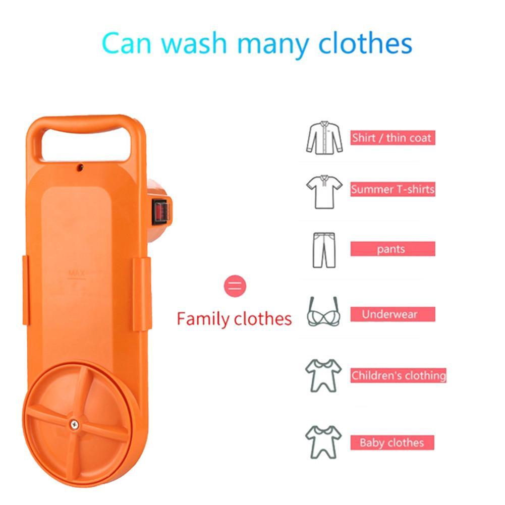EU/US Plug Portable Washing Machine Electric Clothes Washing Cleaning Device USB Foldable Washing Machine For Student Household enlarge