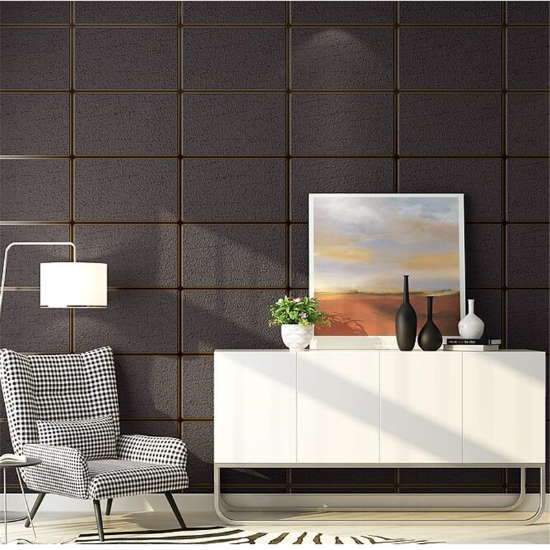 Papel de pared de piel de ciervo nórdico WELLYU a rayas dormitorio sala de estar minimalista a cuadros FONDO de tv Papel tapiz Papel de pared