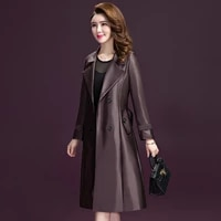 the new korean style fashion windbreaker womens mid length slim and thin over the knee womens jacket