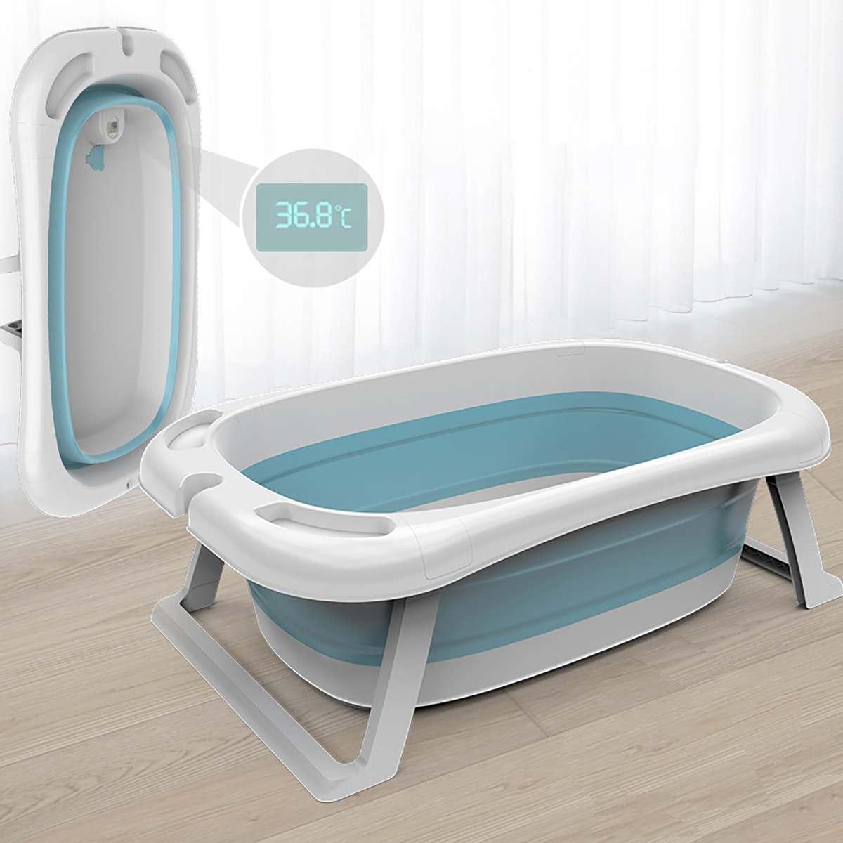 Folding Bathtub Baby Children Lying Universal Intelligent Temperature Bath Barrel Baby Newborn Supplies Oversize Baby Bath Tub enlarge