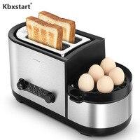 Kbxstart Multi-function Sandwich Maker Baking Cooking Frying In One Breakfast Machine Home Fast Heating Toaster 220V