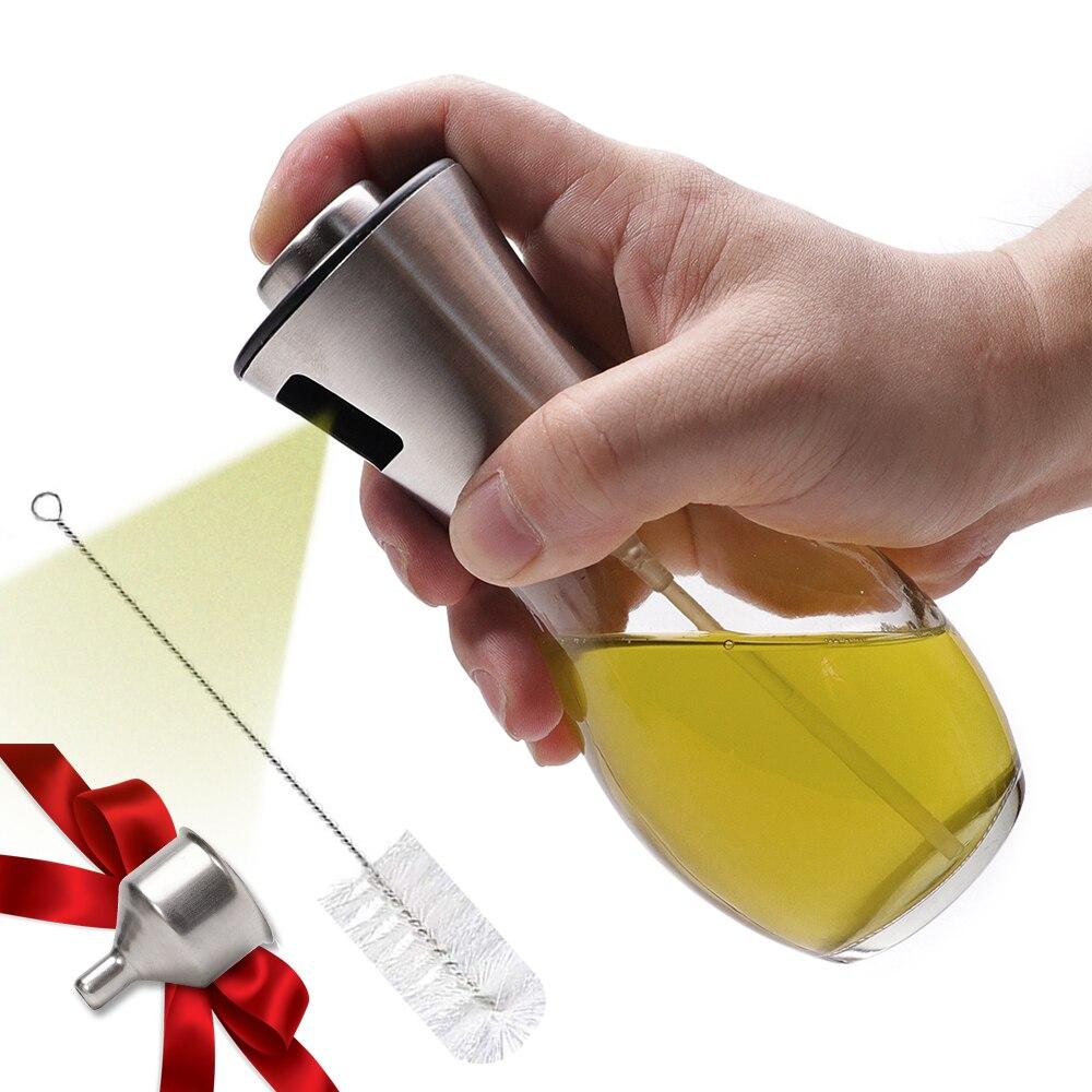 زيت زيتون بخاخ موزع ل Bbq/طبخ/خل زجاج زجاجة مع مانعة للتسرب ، التوابل قطرات جرة توابل أدوات مطبخ