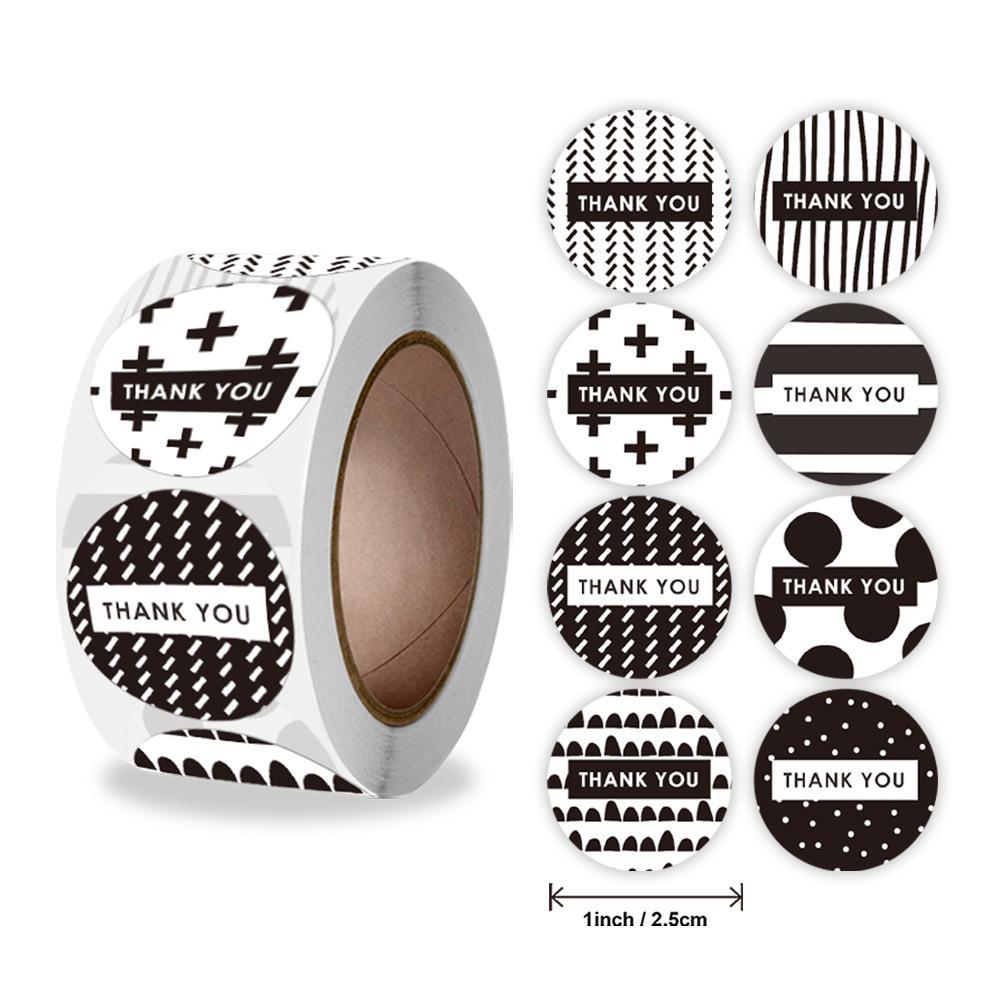 500-pezzi-in-bianco-e-nero-grazie-adesivi-8-etichette-adesive-di-design-diverso-per-piccole-imprese-matrimoni-decorazioni-regalo