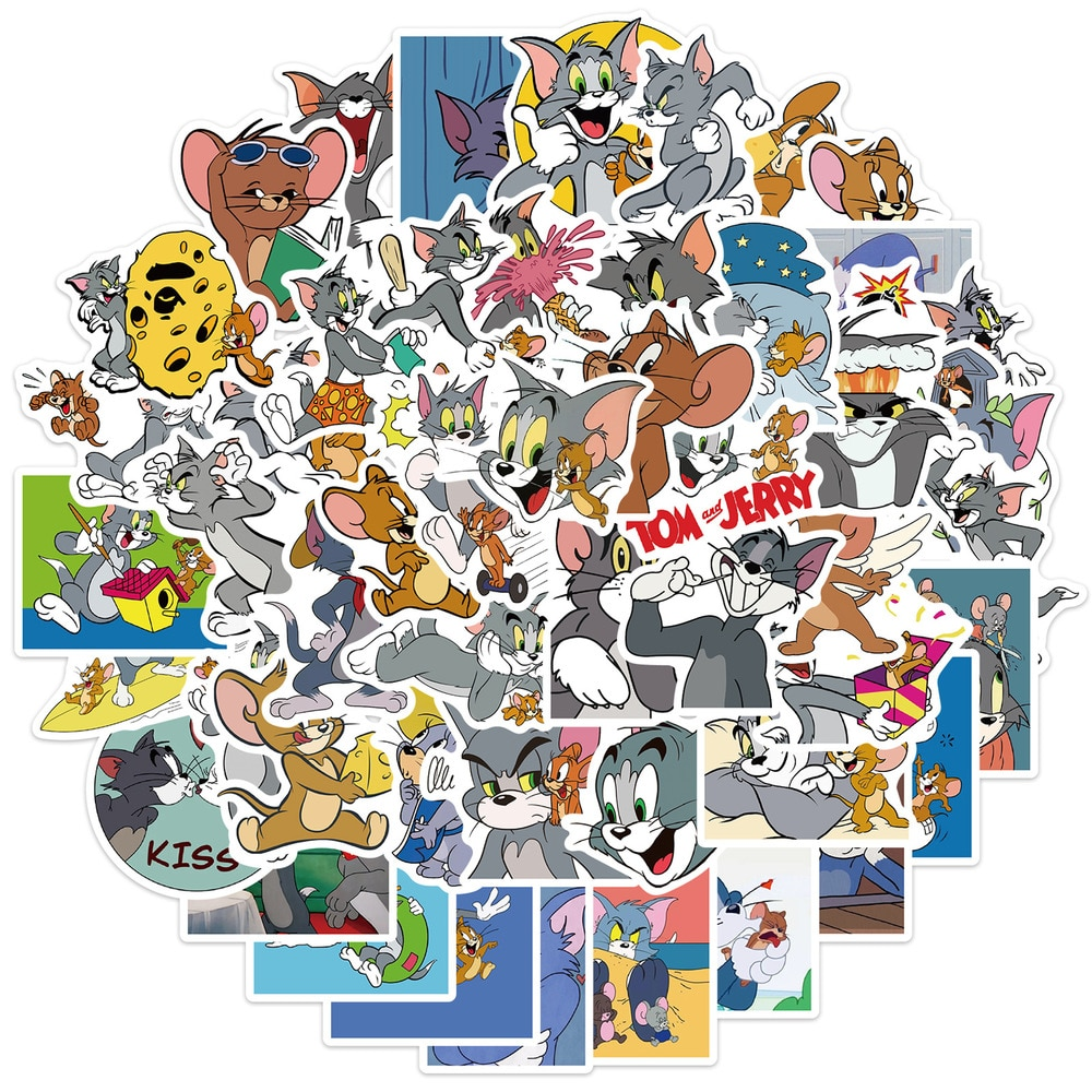 pegatinas-de-pvc-de-dibujos-animados-de-tom-jerry-gato-y-raton-para-telefono-portatil-pegatina-de-graffiti-divertida-juguete-para-chico-10-50-uds