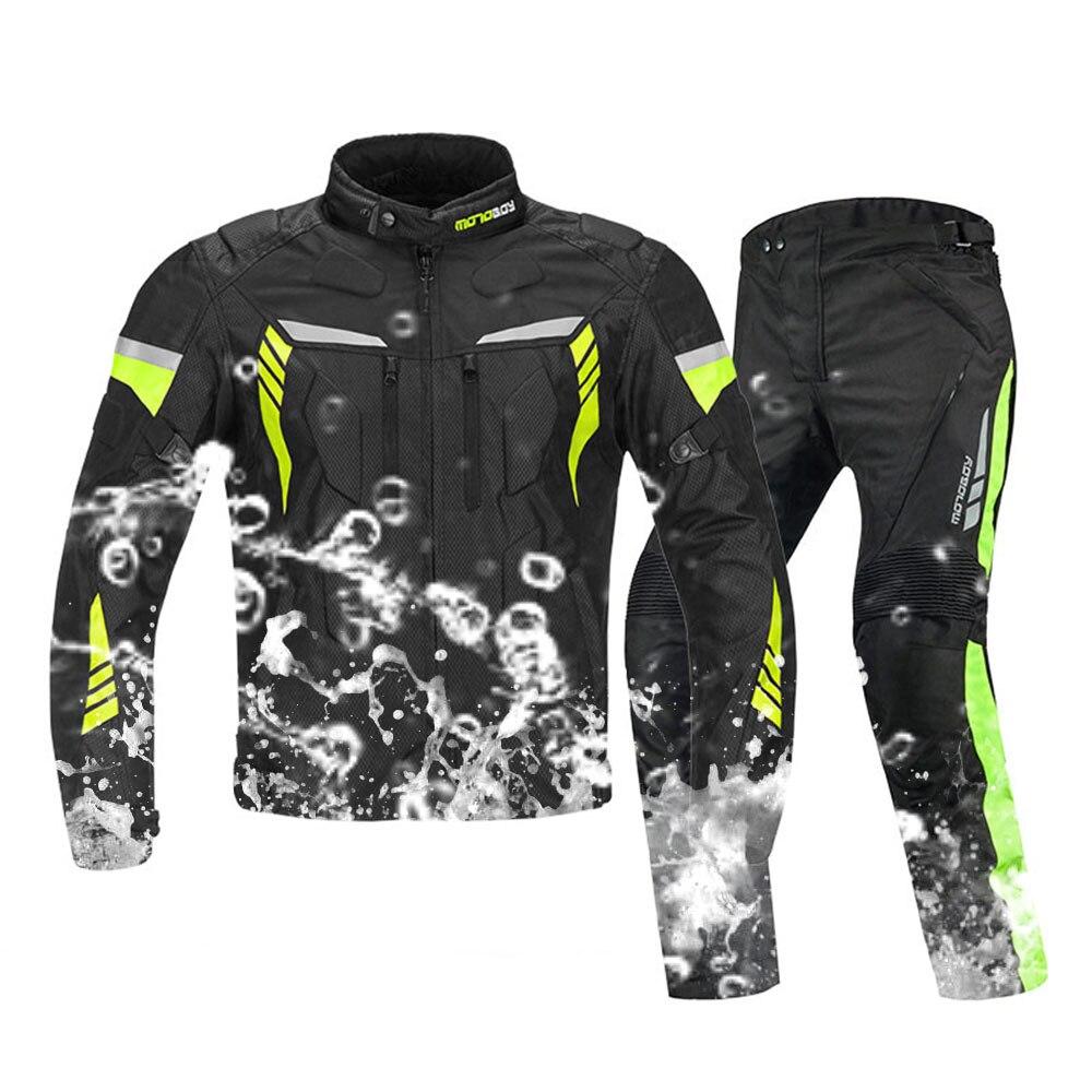 MOTOBOY Motorcycle Jacket Waterproof Motocross Winter Warm Windproof Clothing Motorbike Suits CE Protection Professional jacket