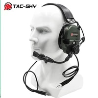 tac sky tci liberator 1 dual communication silicone earmuffs noise reduction pickup tactical walkie talkie headset