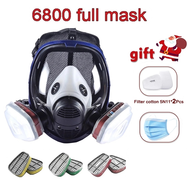 Chemical Mask 6800 Gas Mask Dustproof Respirator Paint Pesticide Spray Silicone Full Face Filters fo