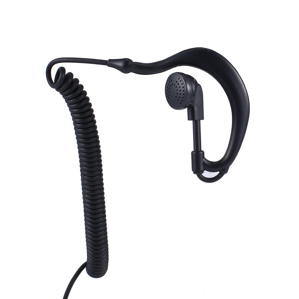 G-образный Мягкий ушной крючок, гарнитура, разъем 3,5 мм, ушной крючок для Motorola Icom, Радиоприемники, рация, наушники