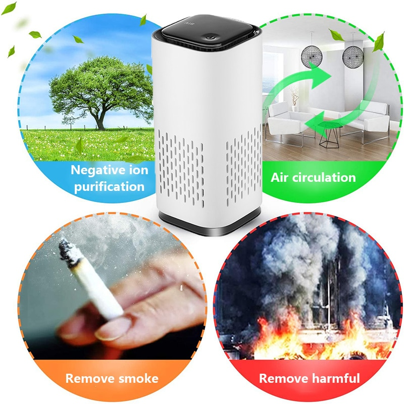 Mini Air Purifier for Home use Air Purifier 3h Air cleaner Car Accessories Remove Formaldehyde Intelligent Household Hepa Filter mexi air purifier hepa filter cartridge carbon fiber formaldehyde removal for original xiaomi oled display smart air purifier 2s