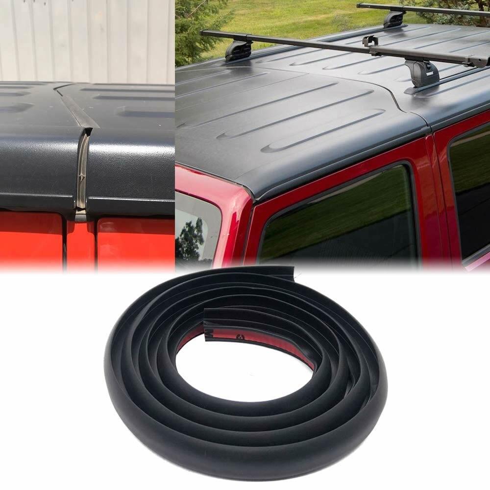 גג זרימת חותם רצועת עבור 2007-2020 ג 'יפ רנגלר JK JL עמיד למים Dustproof להפחית רעש שמש עמיד עמיד סיליקון הרצועה