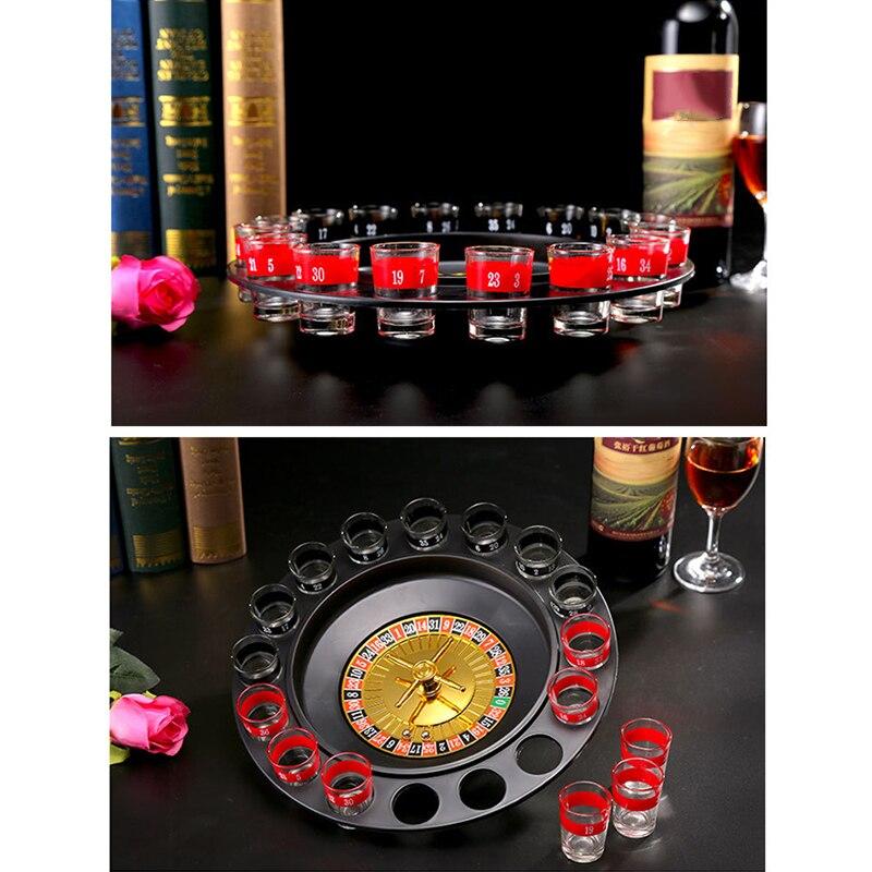 طلقات الزجاج الروليت لعبة الشرب مجموعة مع 16 طلقات نظارات ألعاب حفلات الكبار TRYC889