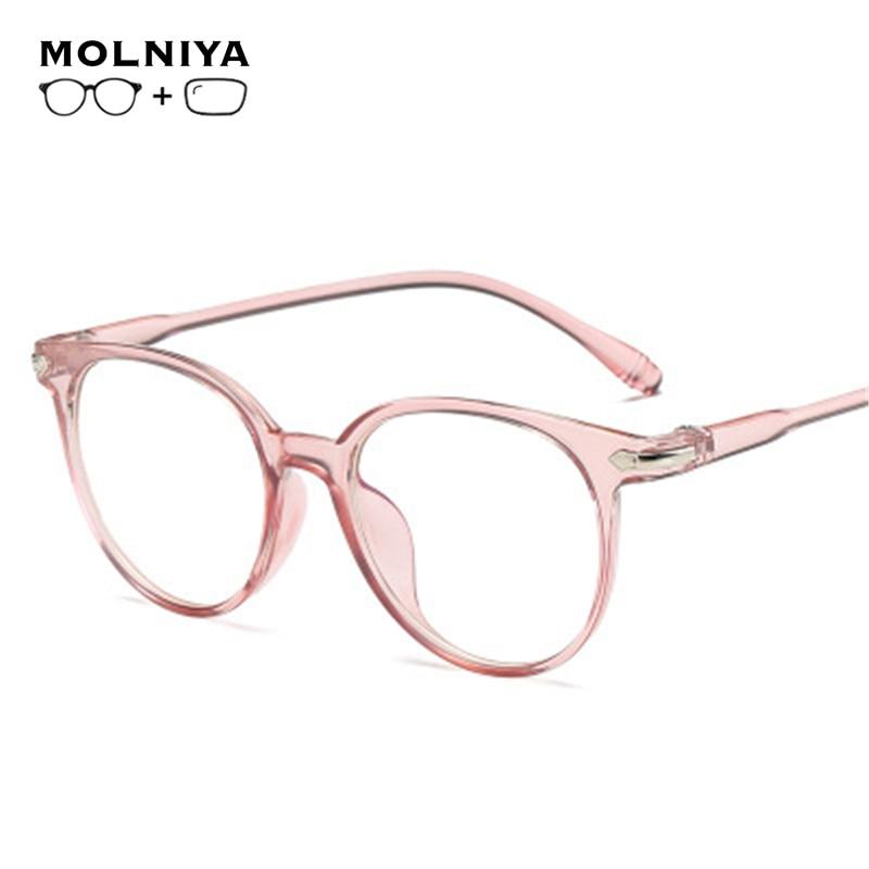 Prescription Blue Light Glasses Myopia Clear Regular Computer Gaming Glasses Fashion Women Improve C