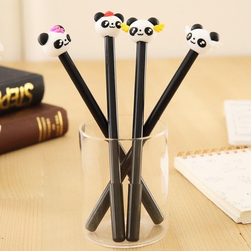 Ellen Brook 1 Uds. Papelería coreana lindo Panda pluma de Gel para escuela Oficina Kawaii suministros novedosos regalos creativos asas