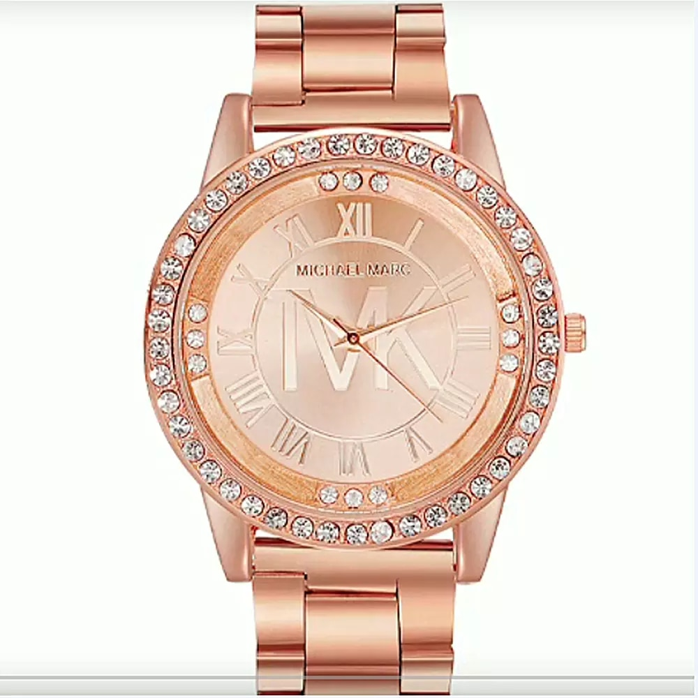 TVK Top Brand Luxury Rose gold Women Watches Fashion Crystal Quartz Watch Dress Ladies Stainless Ste