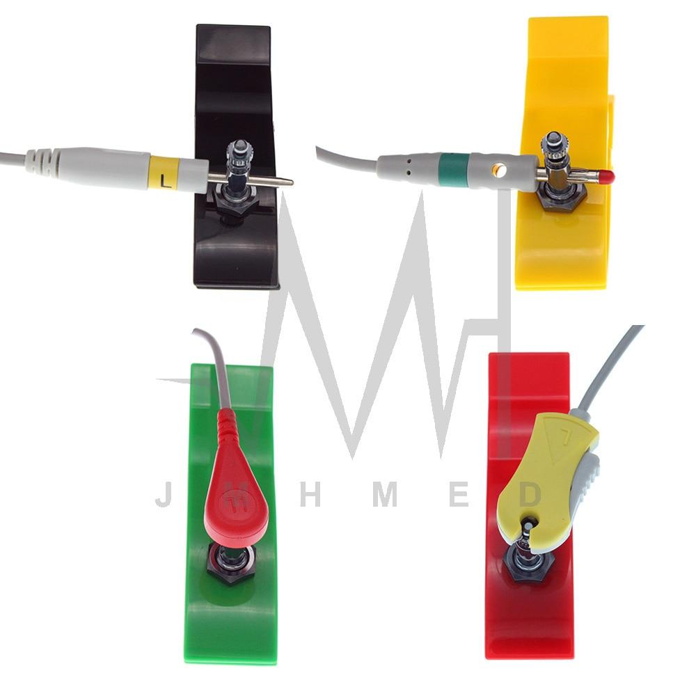 4pcs/Set ECG EKG Limb Clip Electrode for Adult or Children Pediatric Apply to BCI Bionet Biolight Contec Datex Edan GE Monitor