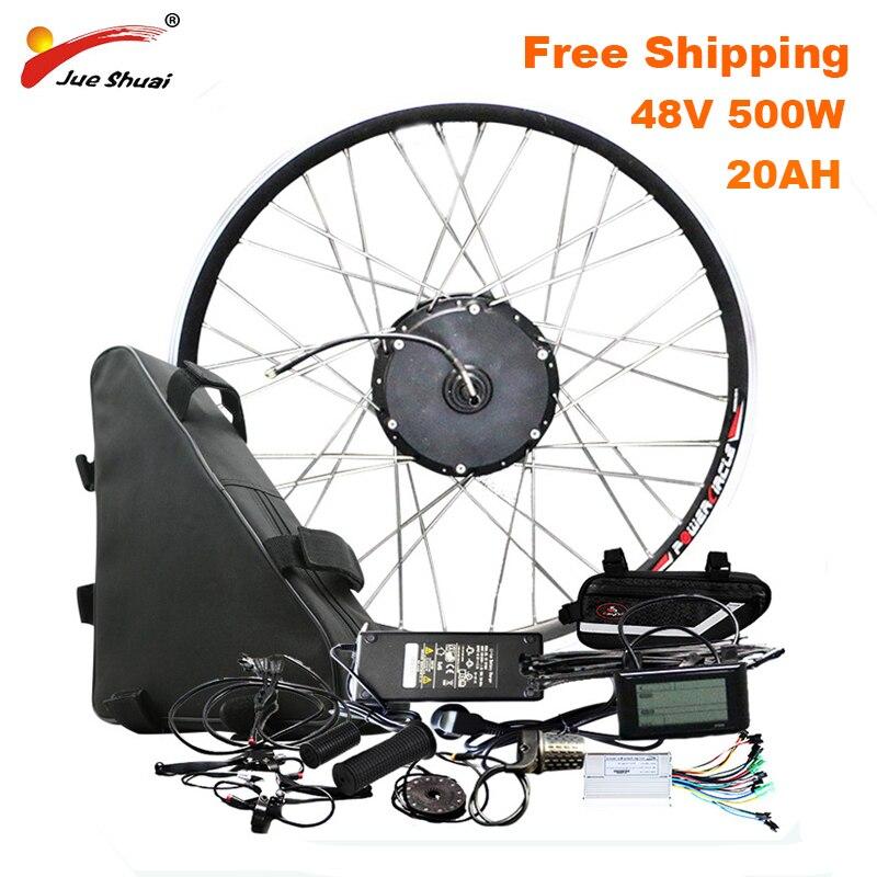 100km de larga distancia Kit de conversión de bicicleta eléctrica con 48V20AH...