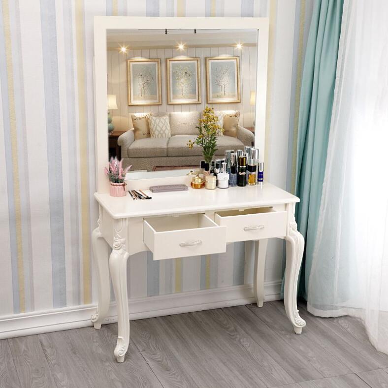 Туалетный столик в европейском стиле для свадебной фотостудии, туалетный столик для спальни, маленькой квартиры, мини-сеть, красный туалетн...