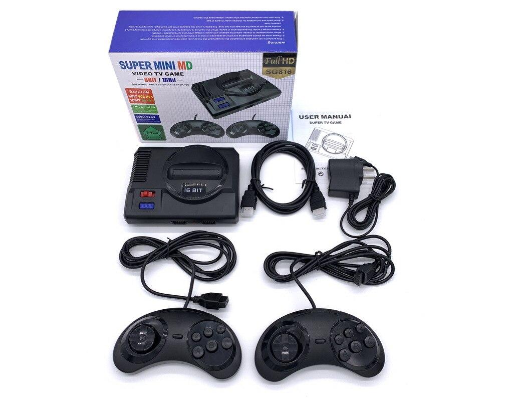 Seja MD Mini TV juego HD Consola 8-poco 16-poco Retro casa Ultra...