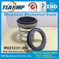 MG912/75-G60 ( MG912-75 ) Burgmann TLANMP Mechanical Seals with G60 Seat (Material:SiC/Carbon/NBR) EN12756 Rubber Bellow Seals