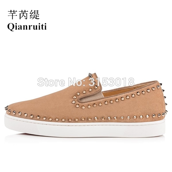 Neue Ankunft Leinwand Fahren Schuhe Einfache Casual Männer Vulkanisierte Schuhe Slip-on Flache Low Top Niet Decoratede Schuhe