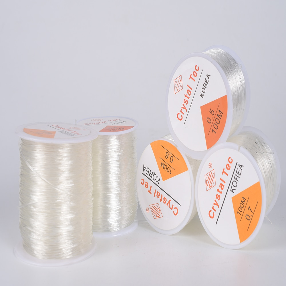 100m Elastic Crystal Jewelry Cord Beading String Strong Stretchy Thread Cords For DIY Necklace Bracelet Jewelry Making