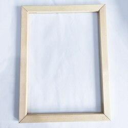 Moldura de madeira para pintura a óleo da lona Preço de Fábrica moldura De Madeira para pintura a óleo da lona natureza DIY picture frame quadro interno