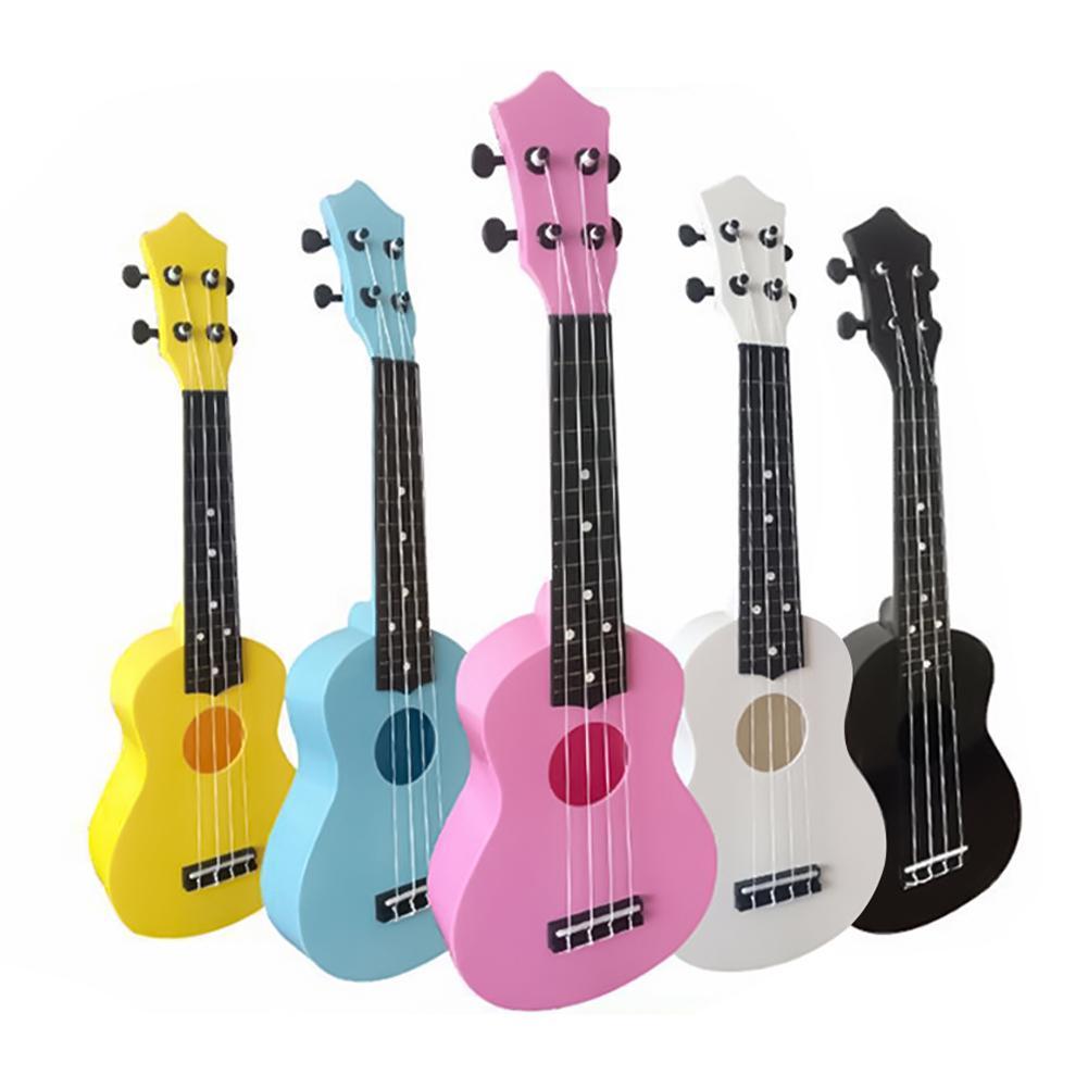 21 pulgadas de 4 cuerdas acústica guitarra pequeña ukelele niños principiantes instrumento Musical ukelele correas instrumento Musical acceso