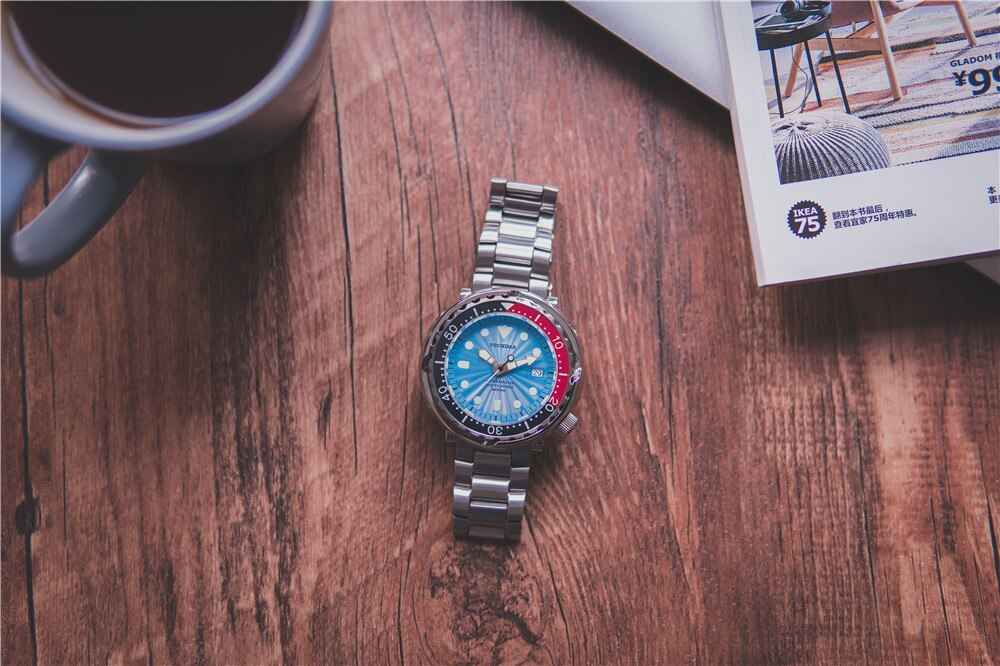 PROXIMA SBBN031 синий циферблат вращающийся керамический ободок сапфир 300 м WR NH35 автоматический механизм дайвинг часы