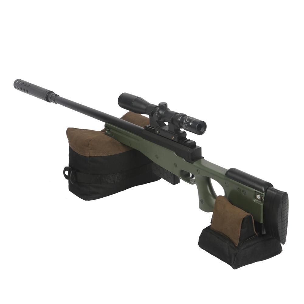 Tourbon táctico de caza, arma de fuego, reposabrazos, Rifle delantero y soporte de la bolsa trasera, reposabrazos de banco, bolsa para pistola, accesorios sin relleno
