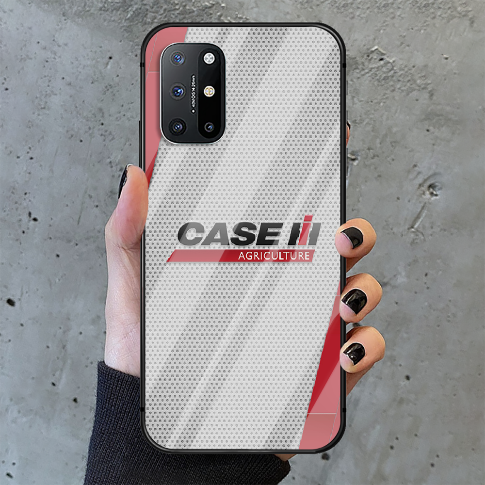 CASE IH Tractor Logo Phone Tempered Glass Case Cover For Oneplus 5 6 7 8 9 Nord T Pro Shell Hoesjes Black Pretty  - buy with discount