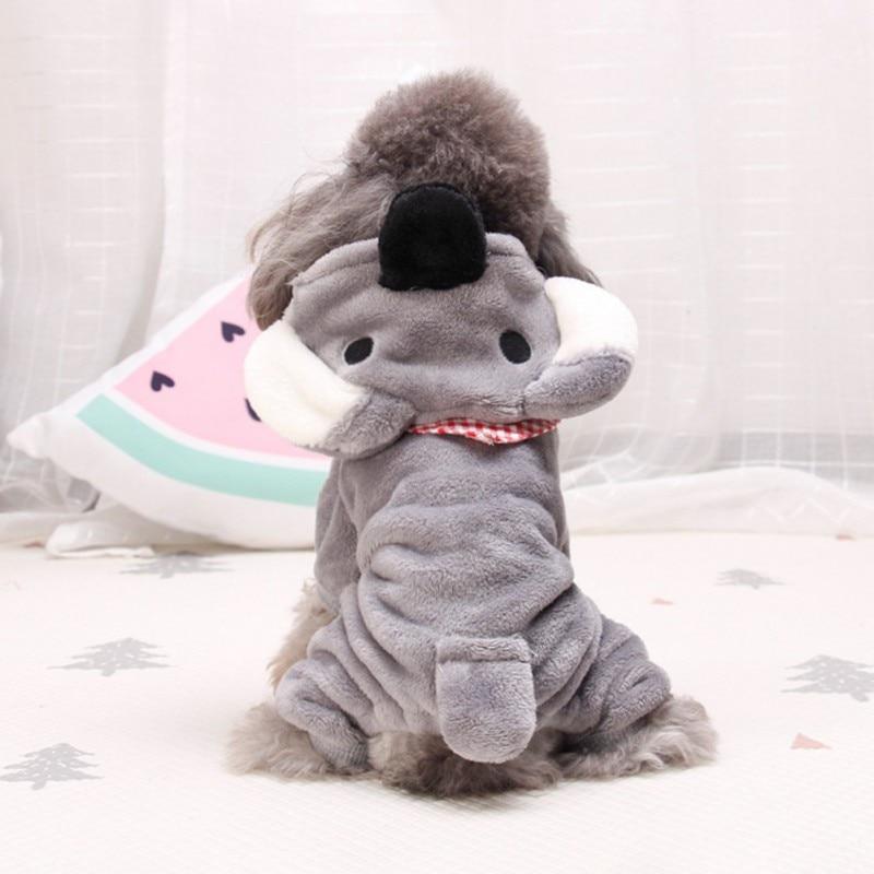 Ropa de perro para Chihuahua mascota oso cerdo disfraz cachorro sudaderas con capucha conejo perro abrigo chaqueta pijama de conejos ropa doguillo Bulldog caliente ~