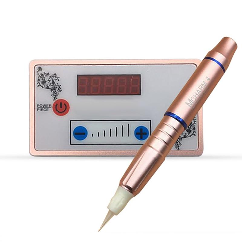 Dermógrafo charmant máquina de 4 en tatuaje armas máquina para maquillaje permanente microblading Micro Pigmentacao Agulhas fácil, haz clic en Novo