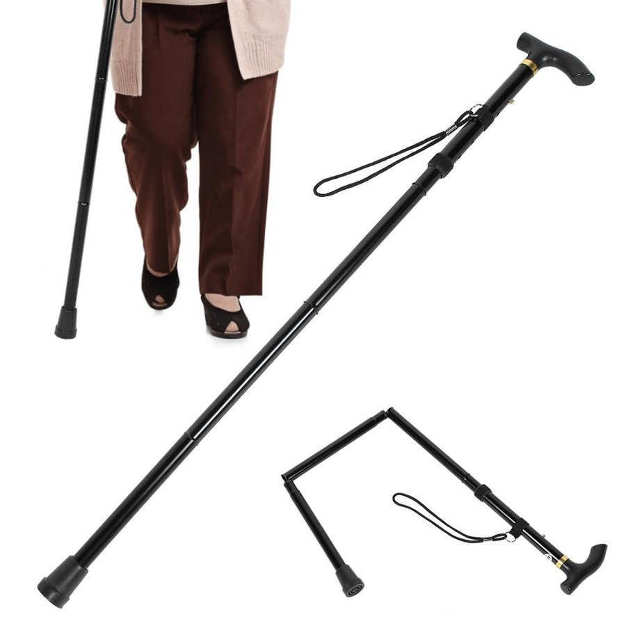 Bâtons de cannes de marche pliants réglables aide à soutenir les personnes âgées handicapées et les Patients âgés bâton canne escalade Camping en plein air