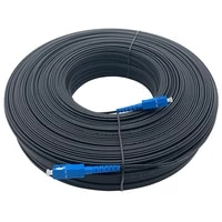 sc upc indoor rubber covered wire optical cable dish 1core steel wire single mode single core fiber optic jumper