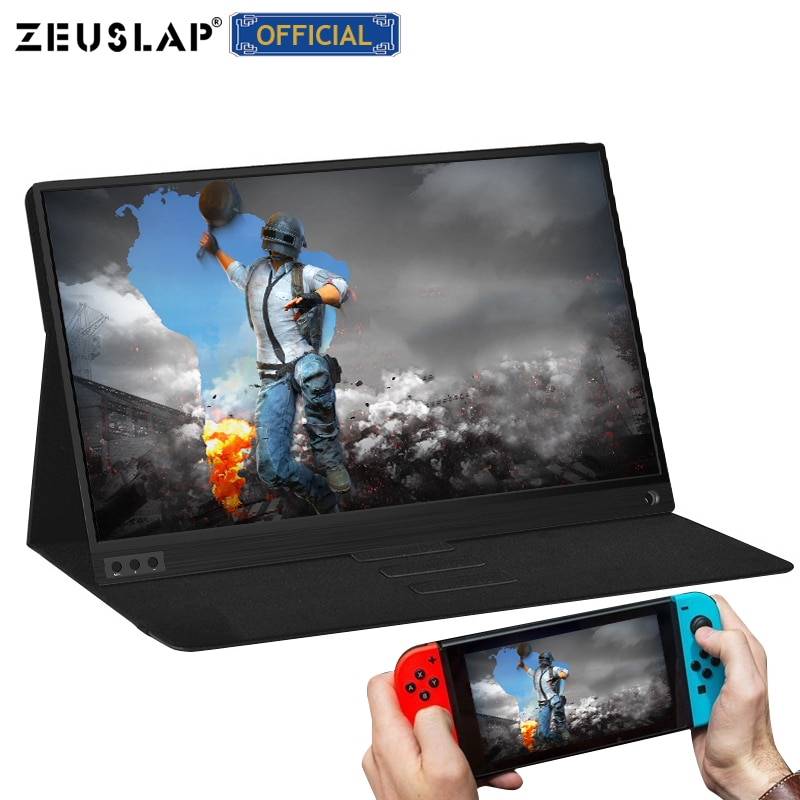 ZEUSLAP Portable lcd hd monitor 15.6 usb type c HDMI-compatible for laptop,phone,xbox,switch and ps4